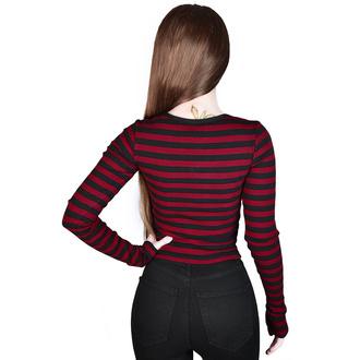 Maglietta da donna a maniche lunghe KILLSTAR - Izora Ribbed - SANGUE, KILLSTAR