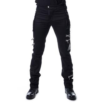 Uomo i pantaloni POIZEN INDUSTRIES - JAXON - NERO, HEARTLESS