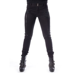 pantaloni Donna Chemical black - JENNA - NERO, CHEMICAL BLACK