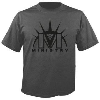 t-shirt metal uomo Ministry - Logo GREY - NUCLEAR BLAST, NUCLEAR BLAST, Ministry