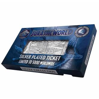 Decorazione Jurassic World - Replica Mosasaurus Biglietto - argento placcato, NNM, Jurassic World