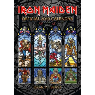 Calendario per anno 2019 IRON MAIDEN, NNM, Iron Maiden
