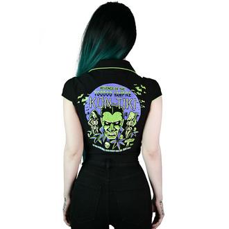 Camicia da donna KILLSTAR - Kon-Tiki Crop - Nero, KILLSTAR