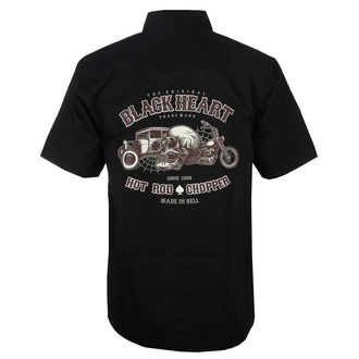 Camicia da uomo BLACK HEART - REVELATION - NERO, BLACK HEART