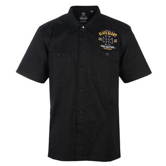 Camicia da uomo BLACK HEART - WHISKERY - NERO, BLACK HEART
