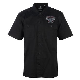Camicia da uomo BLACK HEART - RED BARON CHOPPER - NERO, BLACK HEART
