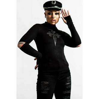 Maglietta da donna a maniche lunghe KILLSTAR - Laverna Cross - Nero, KILLSTAR