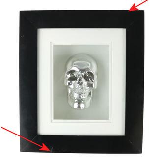 Immagine Argento Cranio In Telaio - B0330B4 - DANNEGGIATO