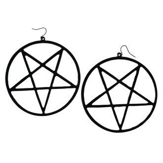 Orecchini Luciferothica - Huge Inverted Pentagram - Nero, LUCIFEROTHICA