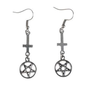Orecchini Luciferothica - Inverted cross Pentagram, LUCIFEROTHICA