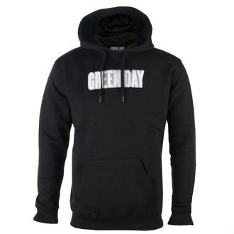 felpa con capuccio uomo Green Day - Logo & Grenade Applique - ROCK OFF, ROCK OFF, Green Day