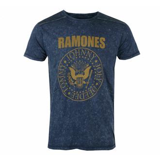 Maglietta da uomo Ramones - Presidential Morel Snow wash - NAVY - ROCK OFF, ROCK OFF, Ramones