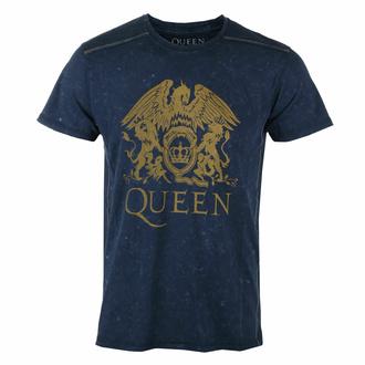 Maglietta da uomo Queen - Classic crest snow was- NAVY - ROCK OFF, ROCK OFF, Queen