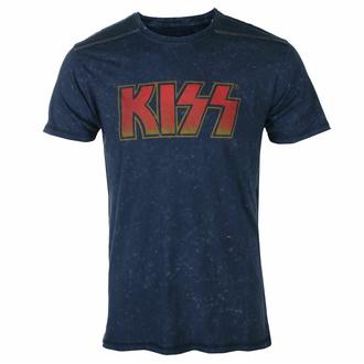 Maglietta da uomo KISS - Logo classico - Snow wash - ROCK OFF, ROCK OFF, Kiss