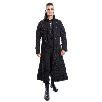 Cappotto da uomo POIZEN INDUSTRIES - MONARCH - NERO BROCCATO, POIZEN INDUSTRIES