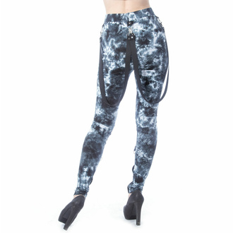Pantaloni da donna (legigns) CHEMICAL BLACK - MORWENNA - NERO/BIANCO TIE DYE, CHEMICAL BLACK