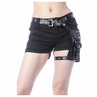 Pantaloncini da donna POIZEN INDUSTRIES - MUSETTE - NERO, POIZEN INDUSTRIES