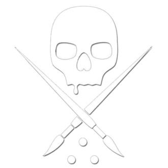 Etichetta (piccolo) SULLEN - DIE CUT STICKER 3 IN - BIANCA, SULLEN