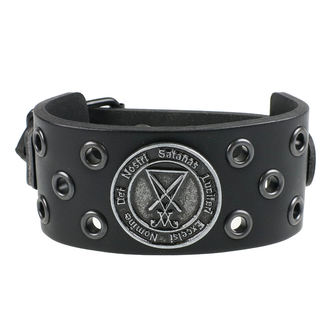 Braccialetto Luciferi - ring black, Leather & Steel Fashion