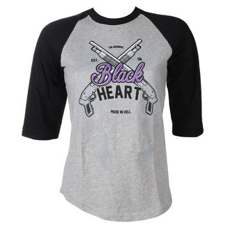 t-shirt street donna - BH SHOT GUN - BLACK HEART, BLACK HEART