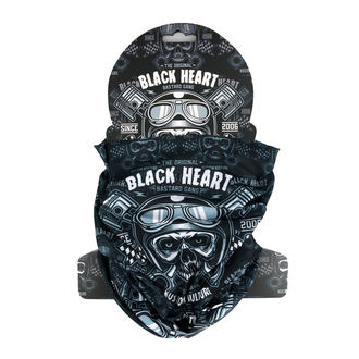 scaldacollo BLACK HEART - PISTON SKULL - NERO, BLACK HEART