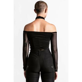 Maglietta da donna manica lunga KILLSTAR - Nightcall A rete - Nero, KILLSTAR