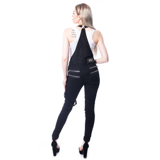 Pantaloni da donna Vixxsin - NOCTURNAL DUNGAREES - NERO, VIXXSIN