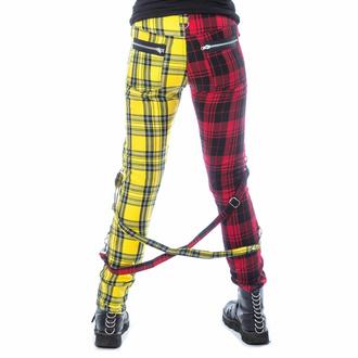 Pantaloni da donna CHEMICAL BLACK - ORDELIA - ROSSO/GIALLO TARTAN, CHEMICAL BLACK