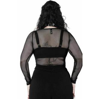 Maglietta da donna a maniche lunghe KILLSTAR - Overkill Fishnet - NERO, KILLSTAR