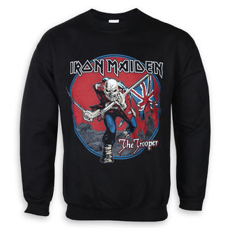 felpa senza cappuccio uomo Iron Maiden - Trooper Red Sky - ROCK OFF, ROCK OFF, Iron Maiden