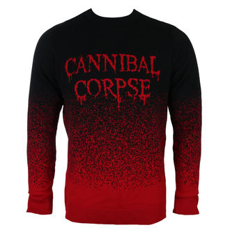 Maglione Uomo CANNIBAL CORPSE - DRIPPING LOGO - PLASTIC HEAD, PLASTIC HEAD, Cannibal Corpse