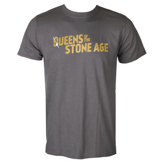 t-shirt metal uomo Queens of the Stone Age - TEXT LOGO (METALLIC) - PLASTIC HEAD, PLASTIC HEAD, Queens of the Stone Age