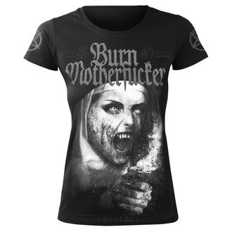 t-shirt hardcore donna - BURN MOTHERFUCKER - AMENOMEN, AMENOMEN