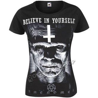 t-shirt hardcore donna - FRANKENSTEIN - AMENOMEN, AMENOMEN
