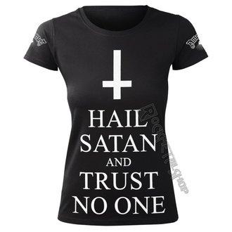 t-shirt hardcore donna - HAIL SATAN AND TRUST NO ONE - AMENOMEN, AMENOMEN