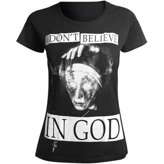 t-shirt hardcore donna - I DON'T BELIEVE IN GOD - AMENOMEN, AMENOMEN