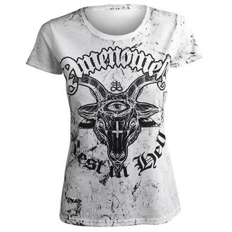 t-shirt hardcore donna - REST IN HELL - AMENOMEN, AMENOMEN