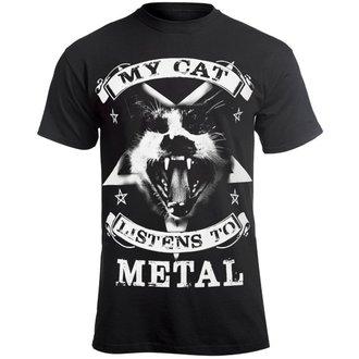 t-shirt hardcore uomo - MY CAT LISTENS TO METAL - AMENOMEN, AMENOMEN