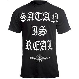 t-shirt hardcore uomo - SATAN IS REAL - AMENOMEN, AMENOMEN