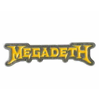Targhetta MEGADETH - LOGO - RAZAMATAZ, RAZAMATAZ, Megadeth