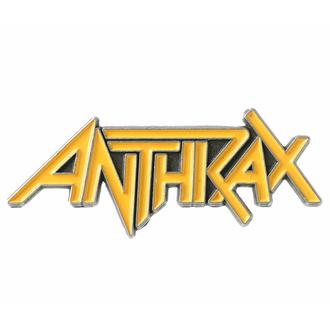 Targhetta ANTHRAX - LOGO - RAZAMATAZ, RAZAMATAZ, Anthrax