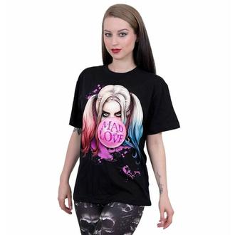 Maglietta unisex SPIRAL - Harley Quinn - MAD LOVE - Nero, SPIRAL