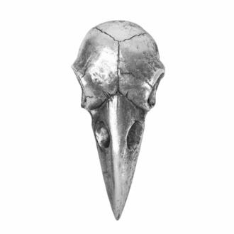 Decorazione (specchio) ALCHEMY GOTHIC - Raven Skull - Argento, ALCHEMY GOTHIC
