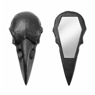 Decorazione (specchio) ALCHEMY GOTHIC - Raven Skull - Nero, ALCHEMY GOTHIC