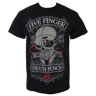 Maglietta Five Finger Death Punch - Wicked - Nero - ROCK OFF, ROCK OFF, Five Finger Death Punch