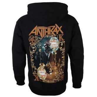 felpa con capuccio uomo Anthrax - Evil Twin - ROCK OFF, ROCK OFF, Anthrax