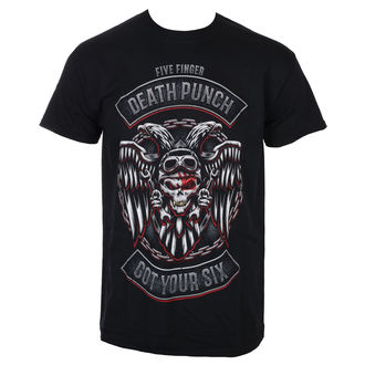 Uomo Maglietta Five Finger Death Punch - Biker Badge - Nero - ROCK OFF, ROCK OFF, Five Finger Death Punch