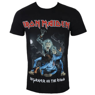 Maglietta Uomo Iron Maiden - No Prayer On The Road - Nero - ROCK OFF, ROCK OFF, Iron Maiden
