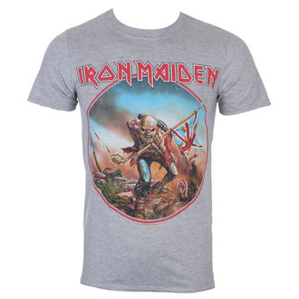 Maglietta Uomo Iron Maiden - Trooper - Grigio - ROCK OFF, ROCK OFF, Iron Maiden