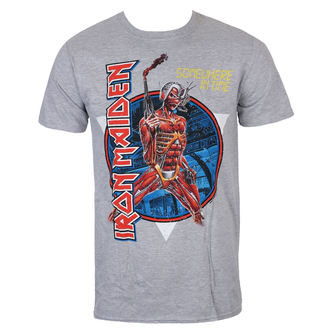 Maglietta Uomo Iron Maiden - Somewhere In Time - Grigio - ROCK OFF, ROCK OFF, Iron Maiden